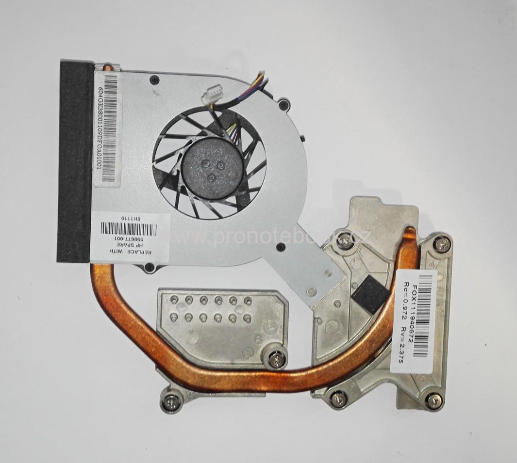 HP PROBOOK 4525s , 598677-001 598676-001 613291-001, CPU FAN + HS