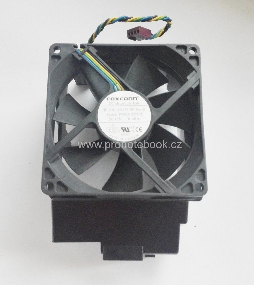 Foxconn HP P/N 435452-001, 92mm x 25mm fan, PV902512PSPF 0D, DC12V 4-pin