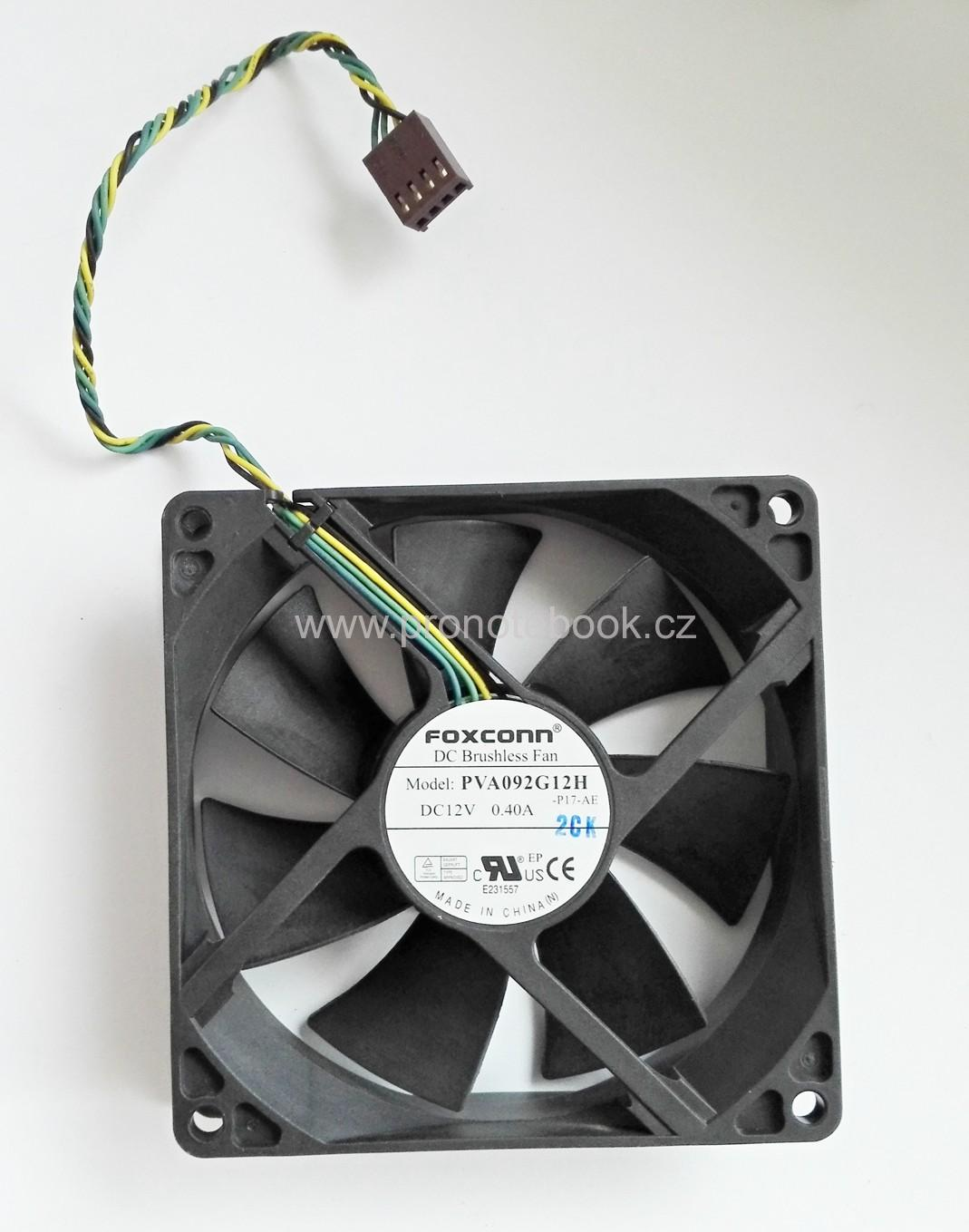 Foxconn Dell, HP, PVA092G12H Fan 12V 0.4A 4pin 92x92x25mm
