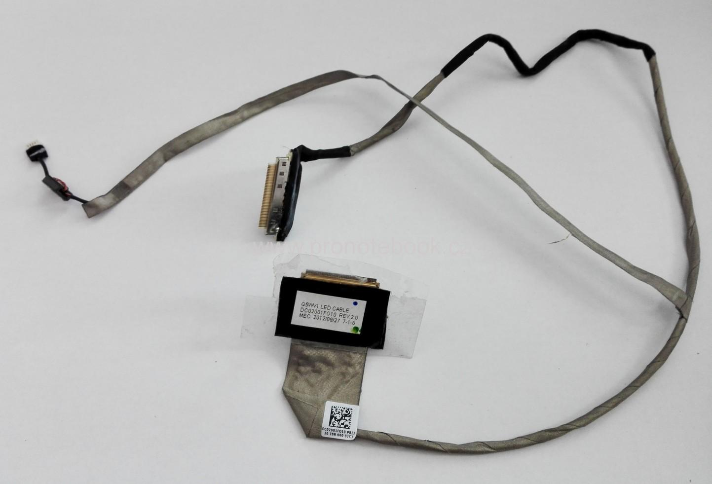 Acer E1-571G Q5WV1 LED CABLE DC02001F010 rev.:2.0 DC02001FO10