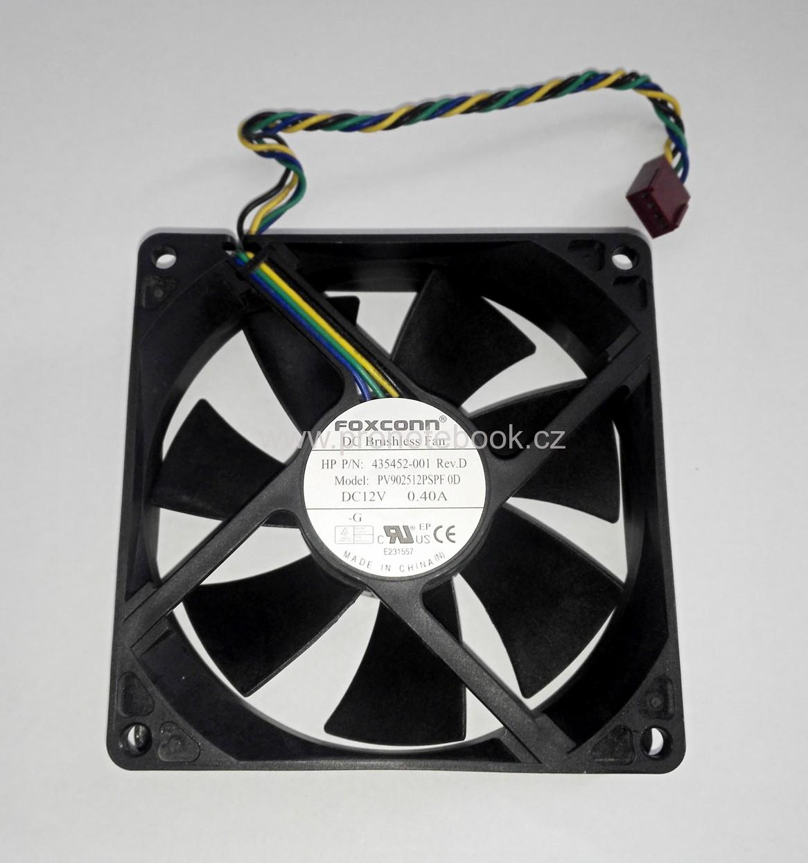Foxconn Dell, HP, PV902512PSPF 0D Fan 12V 0.4A 4pin 92x92x25mm