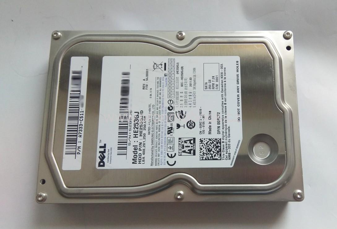 "Samsung HE253GJ Dell GRCT2 250GB 16MB 7200RPM 3.5"" SATA HDD"