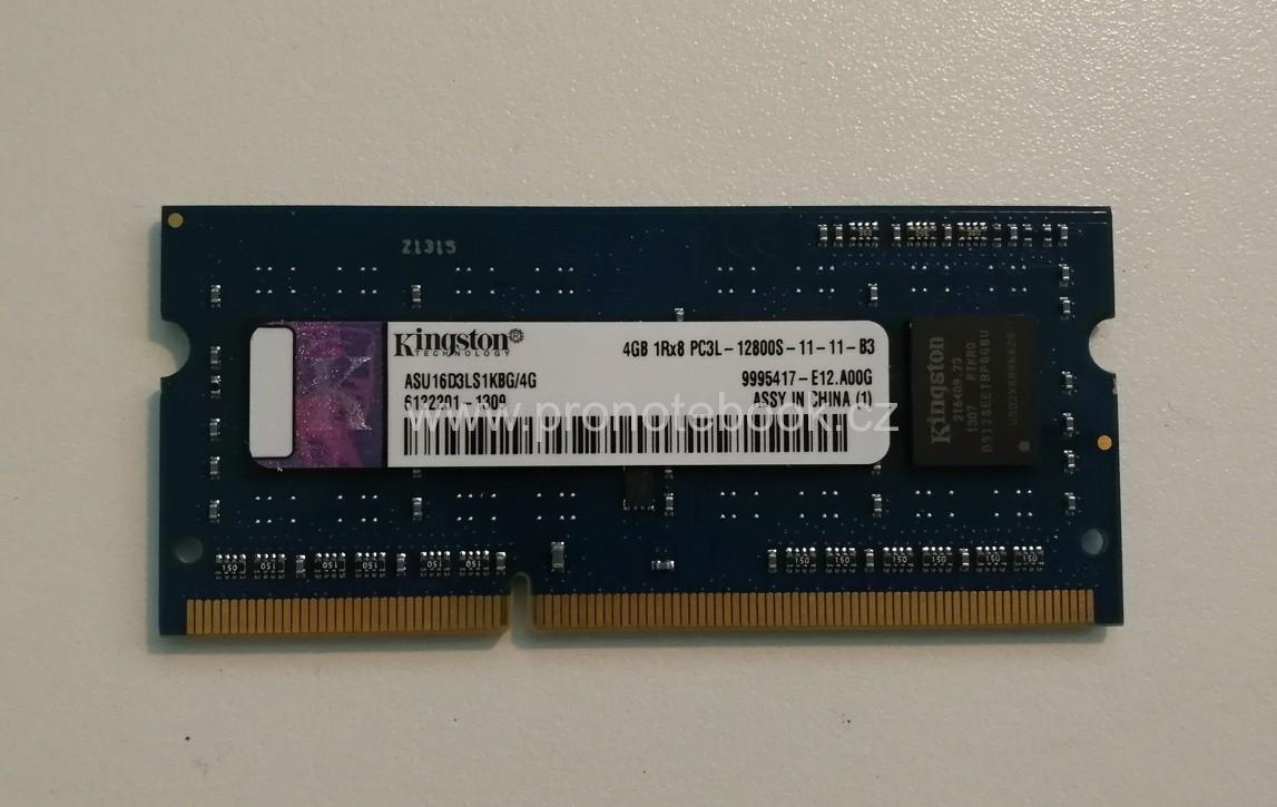 Kingston ASU16D3LS1KBG/4, 4GB DDR3 PC3L-12800 1600MHz, CL11 204-Pin