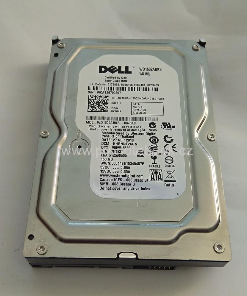 "Western Digital Dell 0X464K WD1602ABKS-18N8A0 160GB, 16MB, 3.5"" SATA 7.2K RPM"