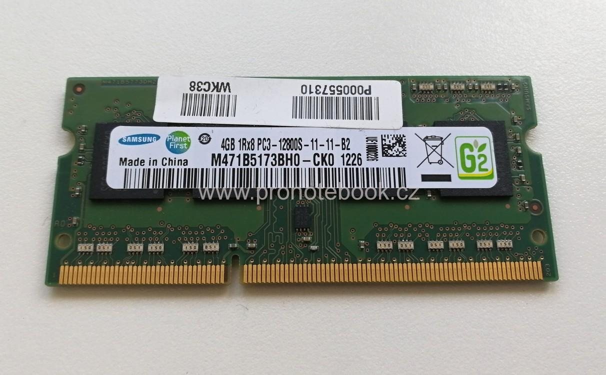 SAMSUNG 4GB DDR3-1600, PC3-12800S, 1Rx8, 1,5V, CL11, M471B5173BH0-CK0