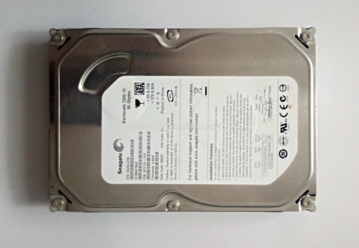 Seagate Barracuda 80GB 7200 RPM SATA, ST380815AS