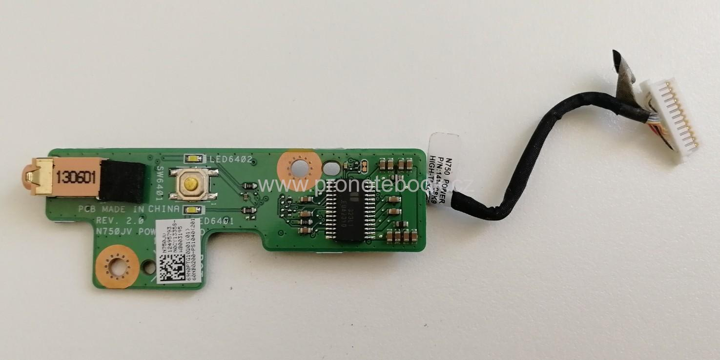 Asus N750JV POWER BUTTON  69N0PTG10D01, 60NB0200-PS1040 cable 1414-08K9000