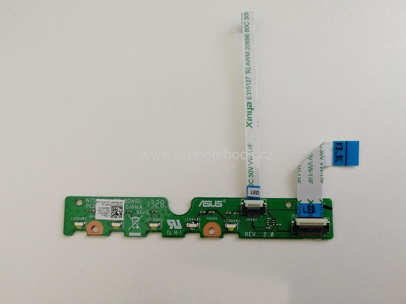 Asus N750JV LED BOARD 69N0PTE10D00, 60NB0200-LD1030