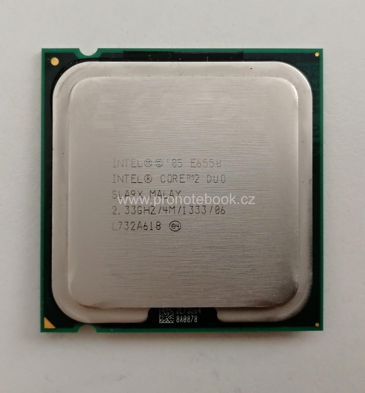Intel® SLA9X Core™2 Duo Processor E6550 4M Cache, 2.33 GHz, 1333 MHz FSB SKLADEM