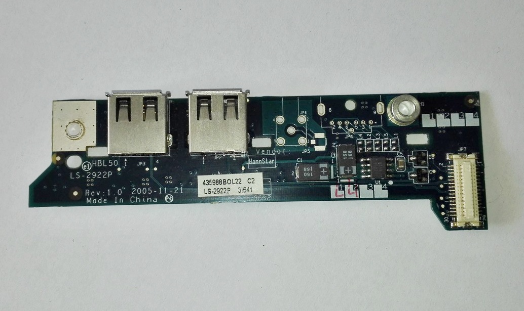 Acer 5610 3690 Power Button Board LS-2922P 435988BOL04