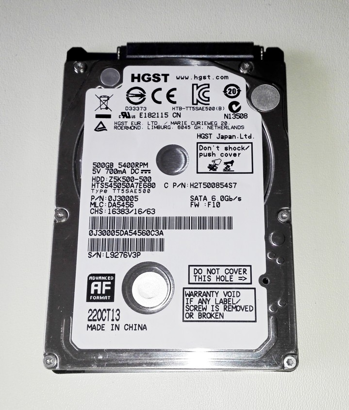 "Hitachi 2.5"" 500GB SATA, 0J30005"