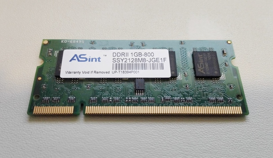 Asint 1GB DDR2 Memory SO-DIMM 200pin PC2-6400S 800MHz SSY2128M8-JGE1F