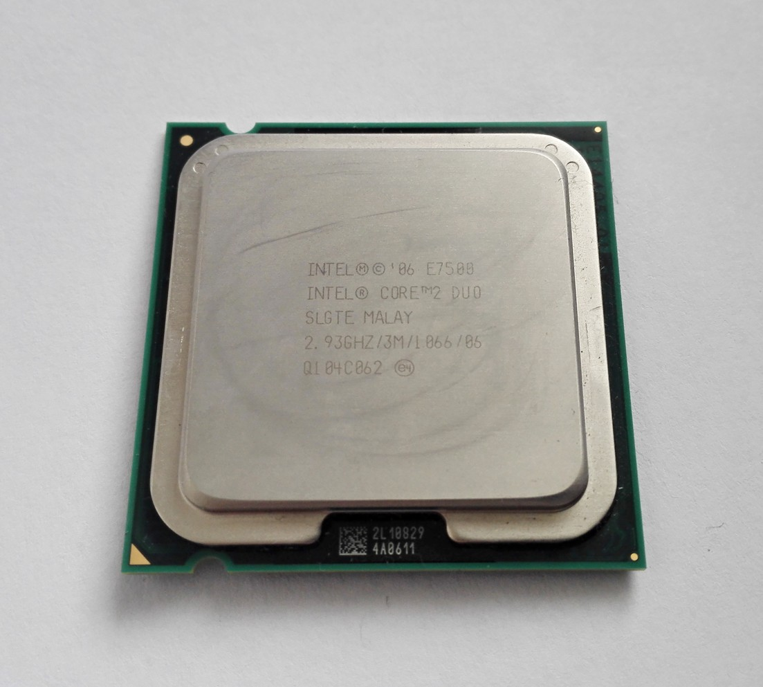 Intel Core 2 Duo E7500, 3MB Cache, 2.93 GHz, AT80571PH0773M