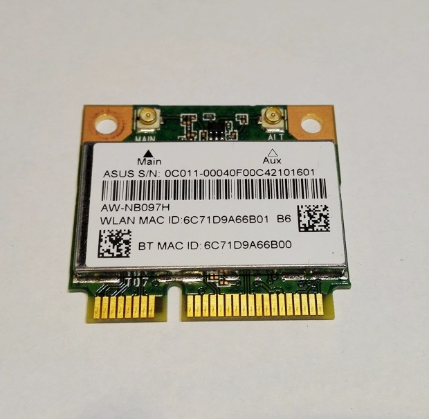 Azurewave AW-NB097H 802.11nbg WiFi + Bluetooth Half-Size PCIe Mini-Card
