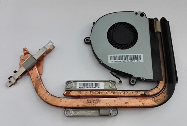 Acer Aspire 5750 heatsink, fan AT0HI00B0R0 DC280009KS0