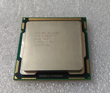 Intel I3-550 CPU 3.2 GHz, SLBUD,  LGA1156 4MB Dual Core, CM80616003174AJ, y