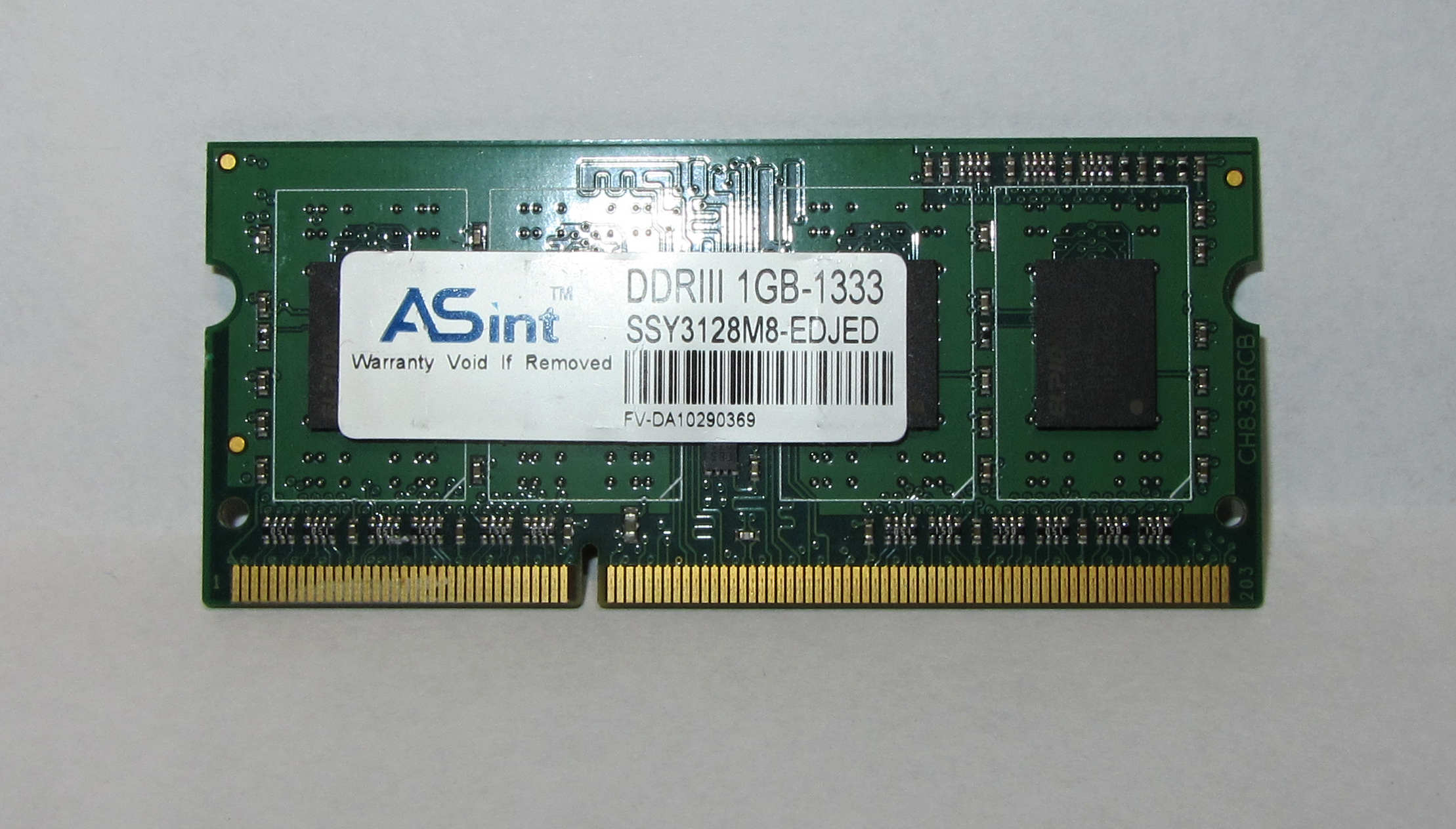 ASUS 1GB DDR3 1333MHz, SSY3128M8-EDJED