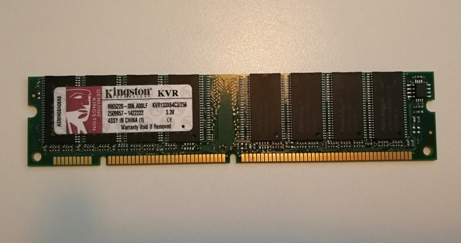 Kingston PC133 256MB DIMM 133 MHz SDRAM memory (KVR133X64C3/256)