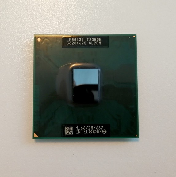 Intel® Core™ Duo Processor T2300E,  2MB, 1.66 GHz, 667 MHz, SL9DM, LF80539