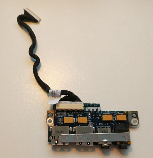 LS-2841P, 408492-001 USB, audio board with cable DC020004R00