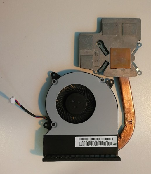 Original Asus N750JV GPU heatsink FAN 13NB0201AM1511, MF60070v1-C180-S9A, 4 pin