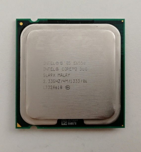 Intel® SLA9X Core™2 Duo Processor E6550 4M Cache, 2.33 GHz, 1333 MHz FSB