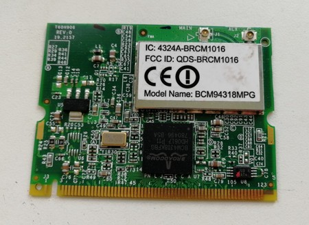Acer Aspire 9300 Wireless Mini PCI BCM94318MPG T60H906.01 SKLADEM