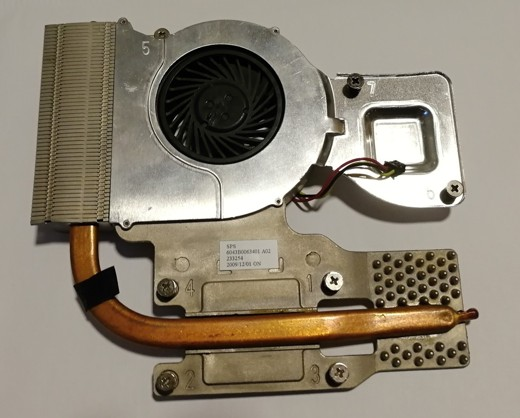 HP ProBook 4510s CPU fan heatsink 535767-001 6043B0063401  MCF-811AM05 SKLADEM