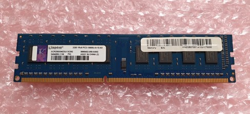 Kingston 2GB ACR256X64D3U13C9G 240Pin DIMM DDR3, 1.5V, 1Rx8, non-ECC, CL9, PC3-10600, 1333MHz SKLADEM