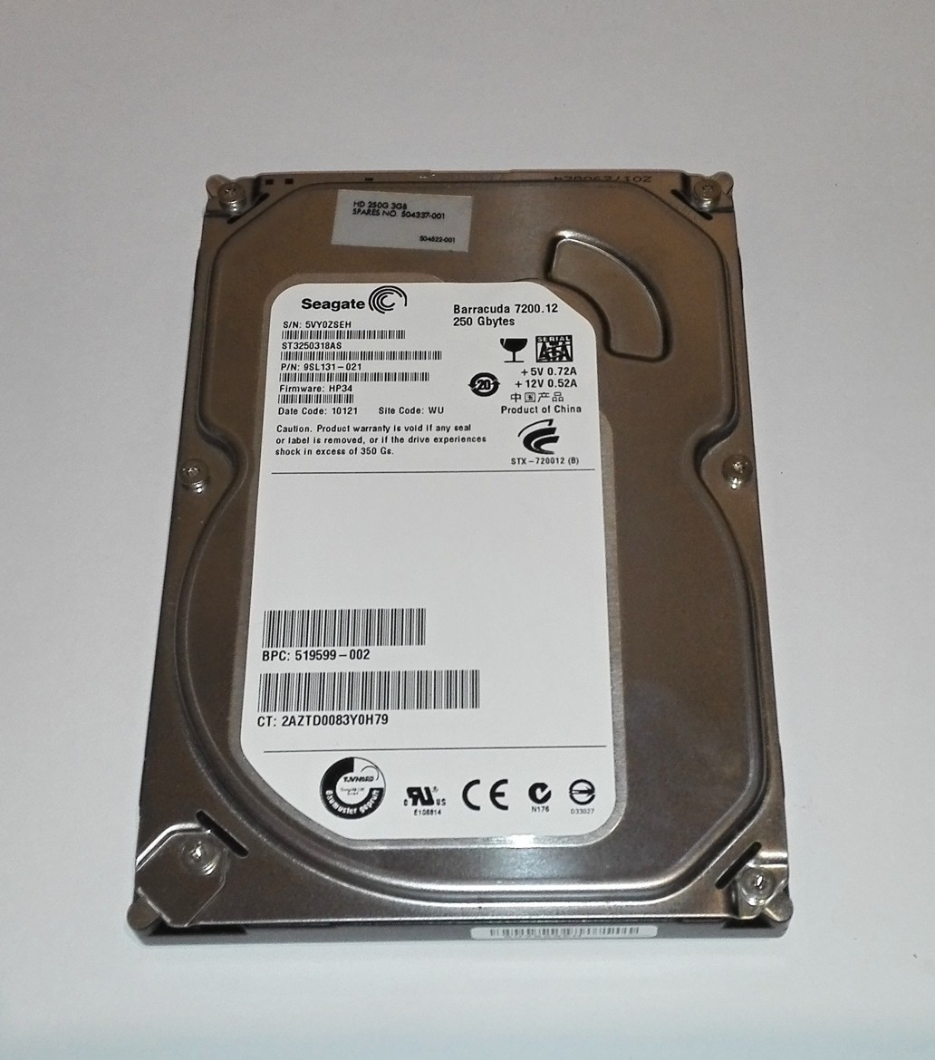 Seagate Barracuda 7200.12 - 250GB, 7200RPM, SATA ST3250318AS